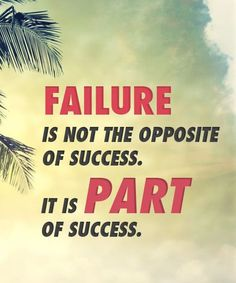 """Part Of Sucess-Inspirational Quotes  Failure comes first Tuchy Palmieri buy """"Satisfying Success"""" at Amazon"""