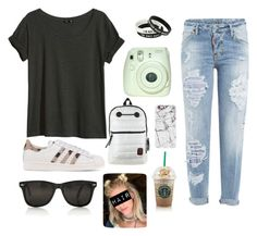 """""""CAsual tuesday"""" by kathivdt on Polyvore featuring H&M, Dsquared2, Casetify, Disney and adidas Originals"""