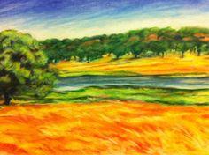 Chalk Pastel Oklahoma Landscape