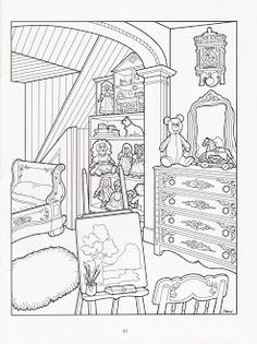 The Victorian House Coloring Book History Social Studies Culture