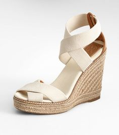 Tory Burch espadrilles - the colors and use of materials seem very Chloe inspired to me