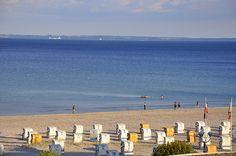 Ausblick aus der Ferienwohnung am Strand von Grömitz