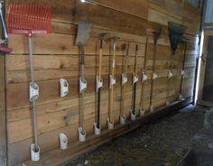 PVC Barn Tool Holders - PetDIYs.com
