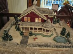 Ultimate Gingerbread - Photos: Chef Michele Mitchell and assistant Jennifer Ballintyn build and decorate the Waterford House
