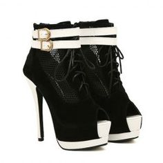 Stylish Women's Peep Toe Boots With Openwork and Double Buckles Design Latest Ladies Shoes, Ivory Shoes, Peep Toe Shoes, Wholesale Shoes, Sammy Dress, Me Too Shoes, Fashion Shoes, Footwear, Stylish