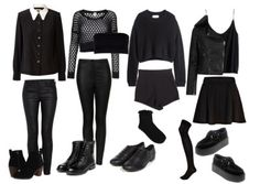 Back to School Outfits back to school fashion Punk Outfits, Tumblr Outfits, Gothic Outfits, Stage Outfits, Mode Outfits, Grunge Outfits, Grunge Fashion, Outfits For Teens, Girl Outfits
