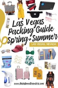 Heading to Vegas and need some help with your suitcase? Check out our Las Vegas Packing Guide for women including Spring & Summer essentials luggage, day bags, clothing, swimsuits, accessories, travel tips, recommendations & more! www.thetattooedtravelers.com // Packing Tips // Las Vegas Packing List Summer // Las Vegas Packing List Spring // What To Bring To Las Vegas #lasvegas #nevada #packingguide