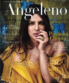 Priyanka Chopra on cover of Angeleno Magazine.