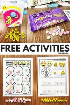 Looking for some Emoji Conversation Heart Activities? Simply Kinder has you covered with these free activities for preschool, kindergarten, and first grade.
