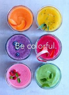 Be colorful.