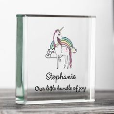 Personalised Home & Garden Gifts Back To School Gifts, Garden Gifts, Unicorn, Home And Garden, Joy, Glass, Design, Drinkware, Corning Glass