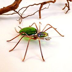 Large Green Spider Buster B by SpiderwoodHollow on Etsy, $25.00