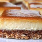 SCD Cinnamon Swirl Caramel Cheesecake Bars (*Substitute honey for maple syrup / coconut nectar & use SCD yogurt. Greek Sweets, Greek Desserts, Greek Recipes, Vegan Desserts, Just Desserts, Delicious Desserts, Sweets Recipes, Raw Food Recipes, Food Network Recipes