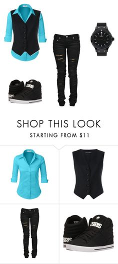 """""""Untitled #911"""" by skullmaster ❤ liked on Polyvore featuring LE3NO, Dolce&Gabbana, Denim of Virtue, Osiris and Hublot"""