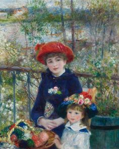 Pierre Auguste Renoir Two Sisters on the Terrace painting is shipped worldwide,including stretched canvas and framed art.This Pierre Auguste Renoir Two Sisters on the Terrace painting is available at custom size. Pierre Auguste Renoir, Jean Renoir, Edouard Manet, Claude Monet, August Renoir, Renoir Paintings, Oil Paintings, Impressionist Paintings, Art History