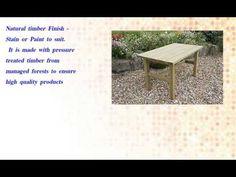Wooden farmhouse style Table and Bench garden set - http://news.gardencentreshopping.co.uk/garden-furniture/wooden-farmhouse-style-table-and-bench-garden-set/