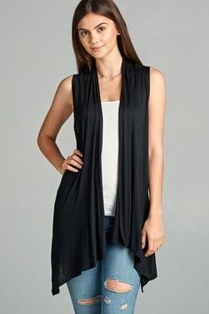 f83ef0e38bdb7 Easy Breezy Sleeveless Open Vest - More Colors