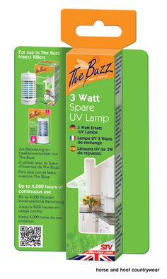 STV International UV Lamp Spare x 3 Watt For use with VIC0155 and VIC0029 Change at the start of summer or after 150 days continuous use.
