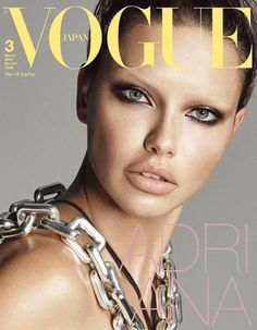 Magazine photos featuring Adriana Lima on the cover. Adriana Lima magazine cover photos, back issues and newstand editions. Vogue Magazine Covers, Vogue Covers, Vogue Japan, Adriana Lima, Tapas, Edita Vilkeviciute, Catherine Mcneil, Anna Dello Russo, Fashion Cover