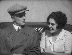 "Soviet Russian actors Ivan Koval-Samborsky & Natalya Glan from the 1926 film, ""Miss Mend""."