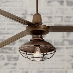 """$389 72"""" Turbina XL Franklin Park Oil-Rubbed Bronze Ceiling Fan"""