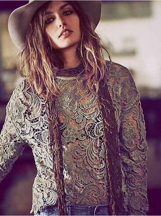 Free People New Romantics Washed Lace Pullover, $168.00