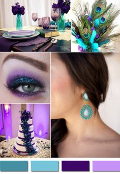 teal and purple wedding colors