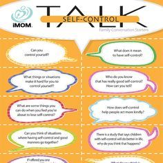 Here are 12 Self-Control TALK Conversation Starters to help you teach your child the concept of self-control.