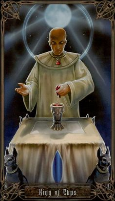 King of Cups: Secrets of the Necronomicon. Ruler, Leader, Healer, Fatherly, Advocate, Sensitive, Diplomat, Idealistic, Negotiator.