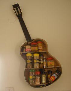 Guitar spice shelf