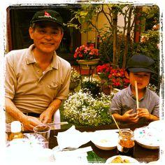 Mike and grandson Fuminori.