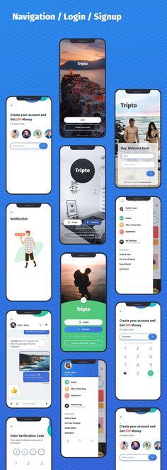 Tripto - Travel and Food Mobile App UI-kit - #app #Food #Mobile #Travel #Tripto #UIKIT Café Mobile, Menu Mobile, Store Mobile, Mobile App Ui, App Mobile Design, Android App Design, Android Ui, Site Web Design, App Ui Design