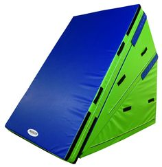 The Incline Skill Development System consists of Two Firm Incline Mats and one Skill Cushion. But when broken down the two steep inclines offer up countless advanced skill stations. Gymnastics Equipment, Gymnastics Mats, Gymnastics Girls, Sports Equipment, Help Teaching, Fitness Studio, Playroom, Cheer, 2 Broke