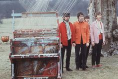 Jane Bown with The Beatles | Music | The Guardian The Beatles. in Knole Park, Sevenoaks filming the Strawberry Fields promo, 1967