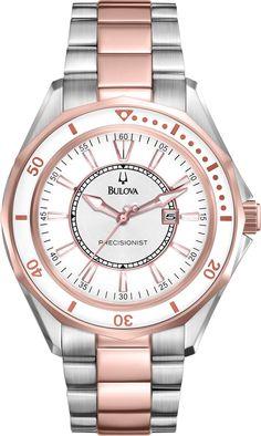 ) Two-Tone Stainless Steel Bracelet Watch - Watches - Jewelry & Watches - Macy's Boyfriend Watch, Bulova Watches, Beautiful Watches, Stainless Steel Bracelet, Luxury Watches, Fashion Watches, Bracelet Watch, Jewelry Watches, Jewelry Accessories