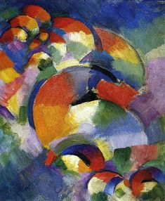 Synchromism - Morgan Russell, Cosmic Synchromy (1913-14), oil on canvas, 41.28 cm x 33.34 cm., Munson-Williams-Proctor Arts Institute.