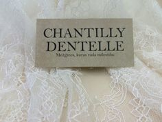 Ivory lace fabric Chantilly Lace French style by ChantillyDentelle