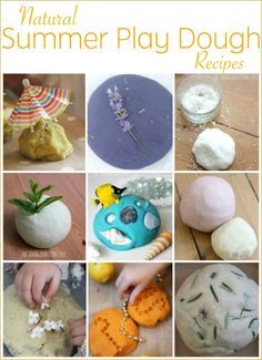 Natural summer play dough recipes! 11 fabulous flavours and scents to try making