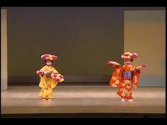 "▶ 長唄「菊づくし」 (日本舞踊) Japanese traditional dance -Nagauta ""Kikuzukushi"" - YouTube by Children"