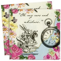 Truly Alice Paper Party Napkins - Alice In Wonderland - Party Themes A-Z - Kids' Party
