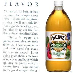 Heinz Vinegar ad Heinz Vinegar, Honest Tea, Ben And Jerrys Ice Cream, Good Things, Apple, Drinks, Bottle, Desserts, Food