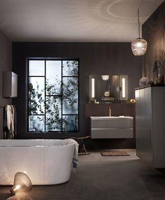 Bathroom from Ballingslöv. Bathroom Goals, Dream Bathrooms, Interior Inspiration, Bean Bag Chair, New Homes, Bathtub, Relax, Interior Design, Bright