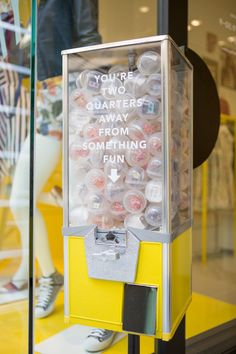 two quarters away from something fun Interactive Exhibition, Interactive Installation, Merchandising Displays, Store Displays, Pop Up Invitation, Party Invitations, Event Marketing, Email Marketing, Sound Art
