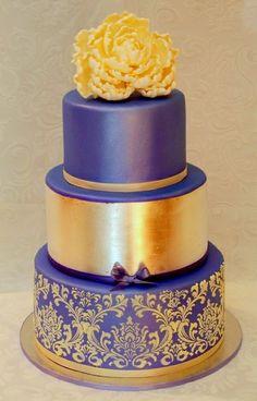 Beautiful purple and gold cake