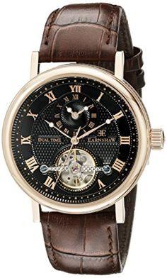 6d5e9bb535b2 Thomas Earnshaw Men s Beaufort Analog Display Automatic self windc Brown  Watch ❤ DTP Vendor