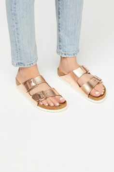 1a053a87b Arizona Metallic Birkenstock Sandal