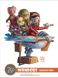 """Lil' Wonders"" Pop Culture Character Art Series — GeekTyrant"