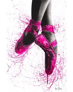 'Ballet Shoes' Poster by Ashvin Harrison Art Ballet, Ballet Painting, Dance Paintings, Ballet Dancers, Painting Art, Dance Photos, Dance Pictures, Ballerina Kunst, Ballerina Drawing