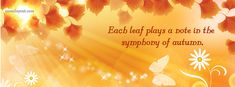 Each Leaf Plays A Note In The Symphoney of Autumn facebook cover  CoverLayout.com