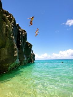 My cousins and I use to cliff jump.. Totally awesome!!!!